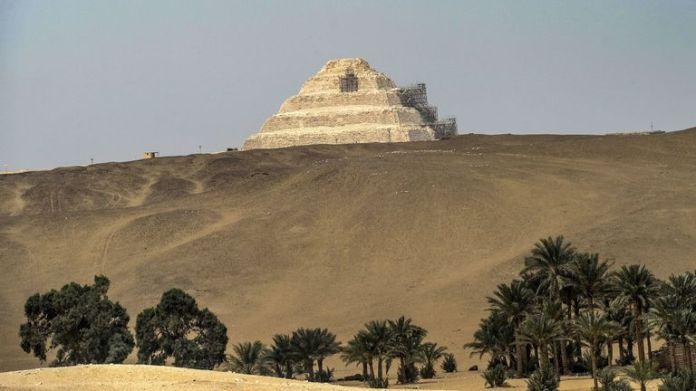 The necropolis was found near Saqqara, 20 miles south of Cairo