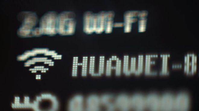 The electronic display on a Huawei mobile wifi device, in London. PRESS ASSOCIATION Photo. Picture date: Thursday April 25, 2019. Photo credit should read: Yui Mok/PA Wire