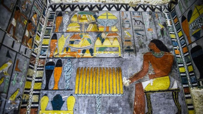 Part of the design was inspired by Fifth Dynasty royal pyramids