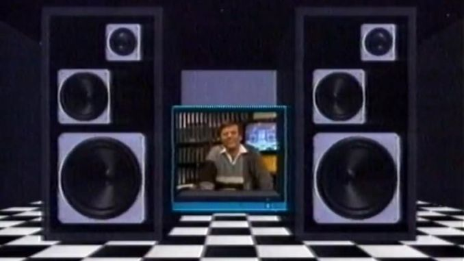 Sky TV's first ever programme, Sky-FI, a 1985 music show presented by Tony Blackburn.