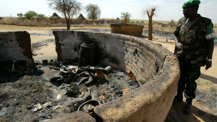 Claims were made at the time of the Darfur Crisis of villages being burned to the ground