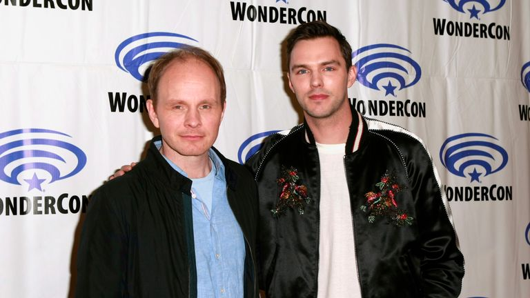 """Dome Karukoski and Nicholas Hoult attend the """"Tolkien"""" press line during WonderCon 2019 at Anaheim Convention Center on March 29, 2019 in Anaheim, California. (Photo by Paul Butterfield/Getty Images)"""
