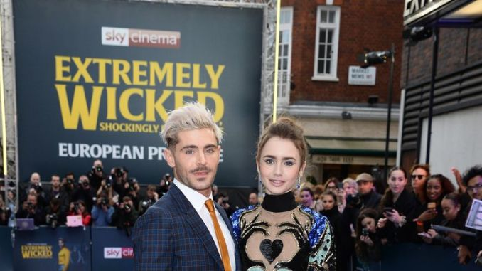 Zac Efron and Lily Cole on the red carpet of Extremely Wicked, Shockingly Evil, and Vile