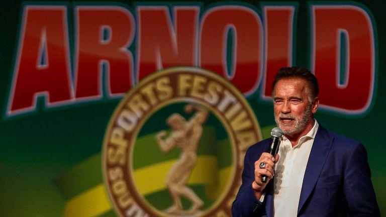 Arnold Schwarzenegger was at an event in Johannesburg