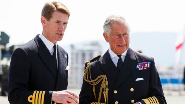 Captain Nick Cooke-Priest and Prince Charles