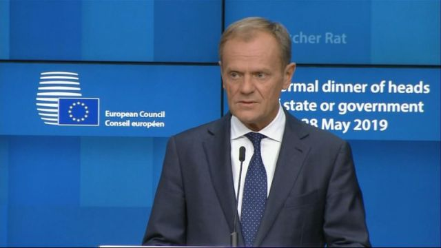 """Britain's Brexit paralysis served as a """"vaccine"""" against the eurosceptic vote in the EU's parliamentary elections, European Council President Donald Tusk has said."""