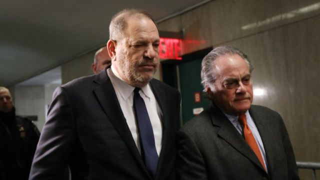 Weinstein with his lawyer Benjamin Brafman