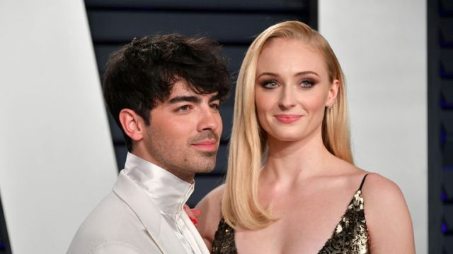 Joe Jonas and Sophie Turner at the 2019 Vanity Fair Oscar Party hosted by Radhika Jones at Wallis Annenberg Center for the Performing Arts on February 24, 2019 in Beverly Hills, California.