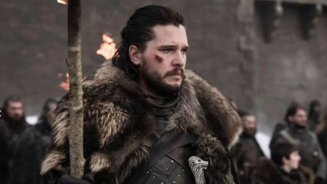 Kit Harington as Jon Snow in Game Of Thrones season eight. Pic: Sky Atlantic/ HBO