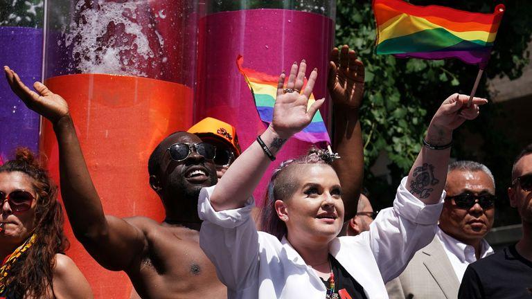 Kelly Osbourne takes part in Pride in New York in 2017