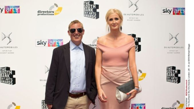Michael Sleggs (L) at the Sky Arts awards in 2018