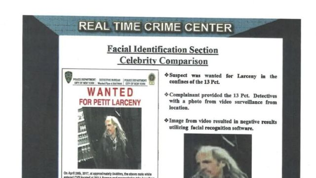 Have you seen this man? Could be confused for Hollywood actor Woody Harrelson. Pic: NYPD