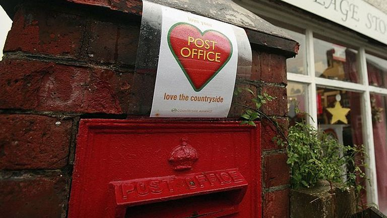 The government subsidy for post offices is due to end in 2021