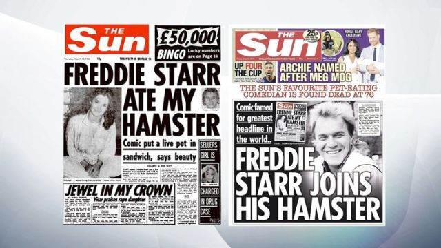 The Sun's infamous 1986 front page and its story covering Starr's death. Pic: Sun newspaper