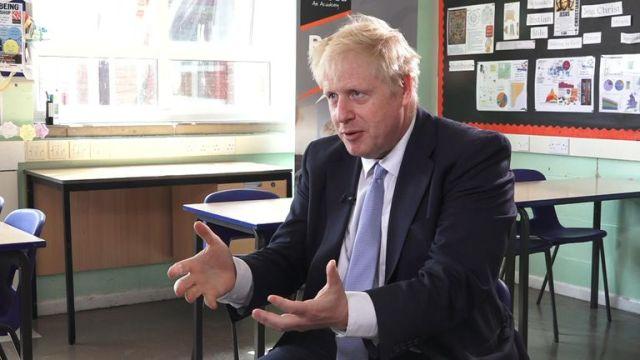 Boris Johnson was speaking to Sky's Sophy Ridge on Sunday