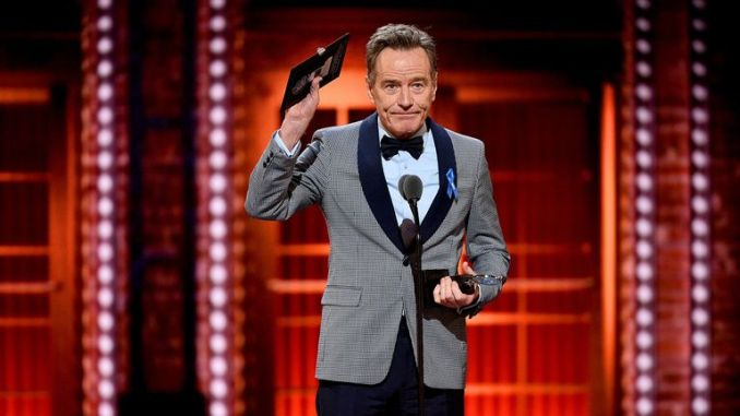 Bryan Cranston was named best actor in a play at the Tony Awards