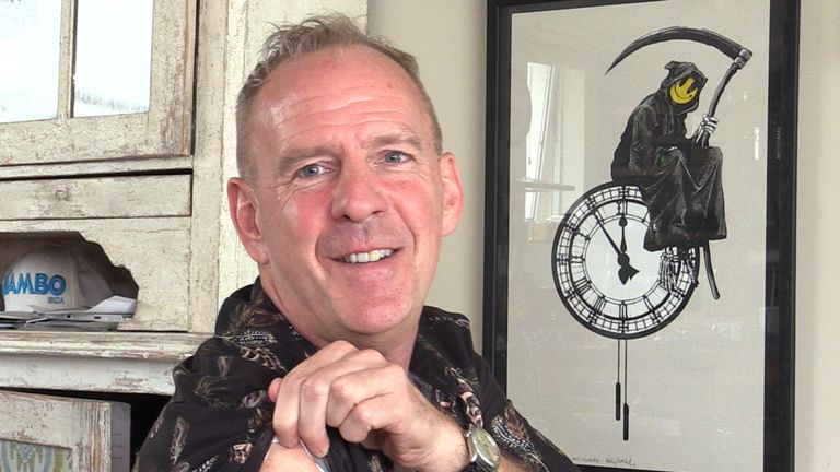 Fatboy Slim's unofficial symbol is a smiley face with crossbones