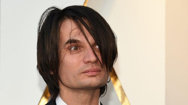 Composer Jonny Greenwood arrives for the 90th Annual Academy Awards on March 4, 2018, in Hollywood, California. / AFP PHOTO / VALERIE MACON (Photo credit should read VALERIE MACON/AFP/Getty Images)