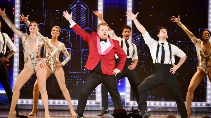 James Corden paid tribute to Broadway at the Tony Awards