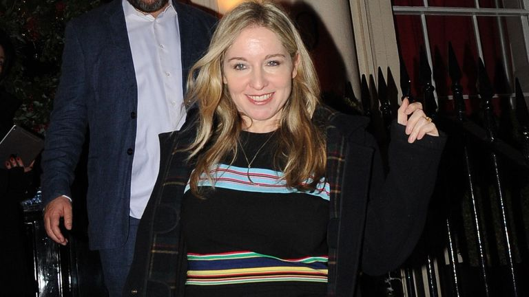David Mitchell, Victoria Coren Mitchell.Evening Standard Christmas party, London, UK - 07 Dec 2018.Evening Standard Christmas party, hosted by owner Evgeny Lebedev at his London home.