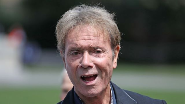 Sir Cliff Richard at an event in Westminster, London, to launch a campaign for a ban on naming sexual crime suspects unless they are charged.