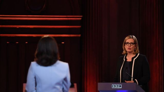 Amber Rudd deputised for Theresa May in a TV debate during the 2017 general election