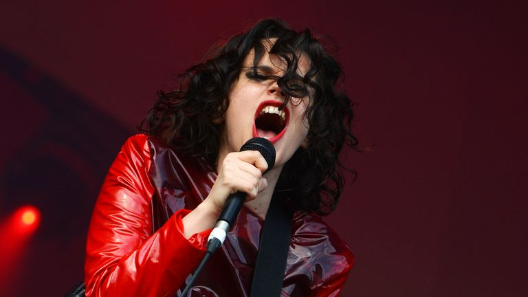 Anna Calvi performs during the All Points East Festival at Victoria Park on May 25, 2019 in London