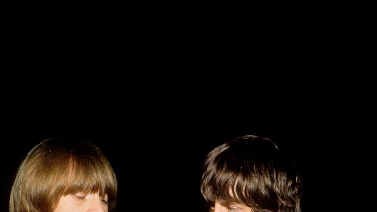 Brian Jones and Mick Jagger in 1966