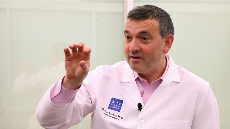 Dr Daniel Yoshor led the study which has partially-restored sight in six patients