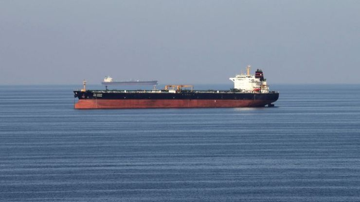 An oil tanker in the Strait of Hormuz: File pic
