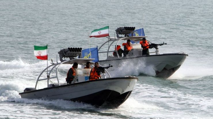 Iran's elite Revolutionary Guards have seized a foreign tanker in the Gulf. File pic