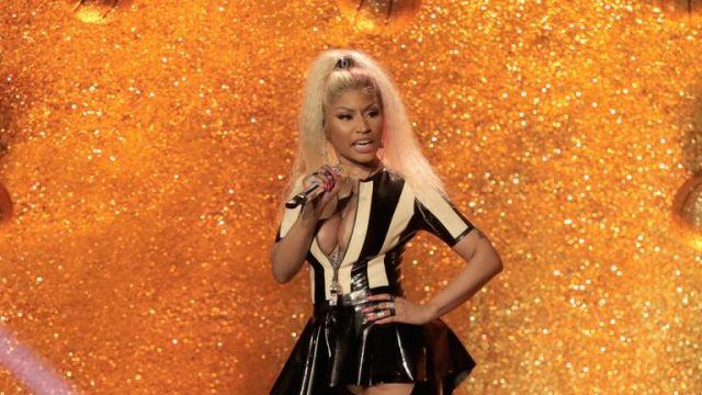 Nicki Minaj performs onstage during the 2017 MTV Video Music Awards