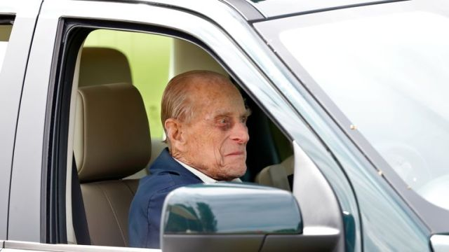 Prince Philip was spoken to by police in January after being photographed driving without a seat belt. File pic
