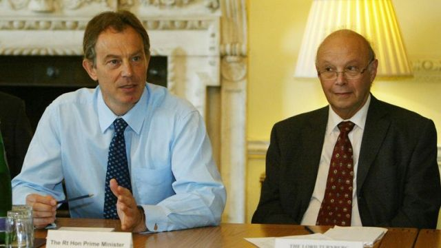 Lord Turnberg and Tony Blair