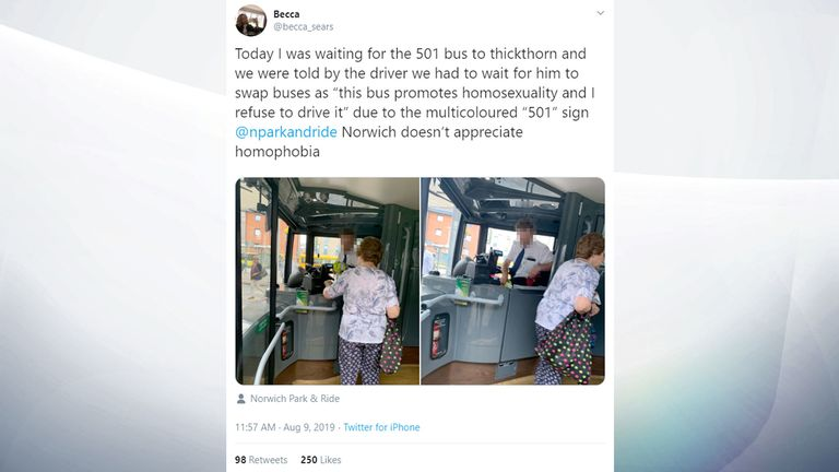 Driver suspended after refusing to travel on Pride-themed bus