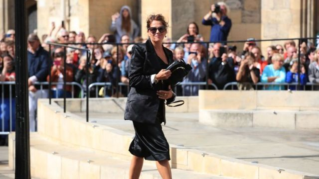Artist Tracey Emin arrives for the wedding