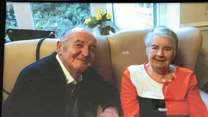 Brian Taylor and his wife for 41 years, Nancy Sykes-Taylor, 84