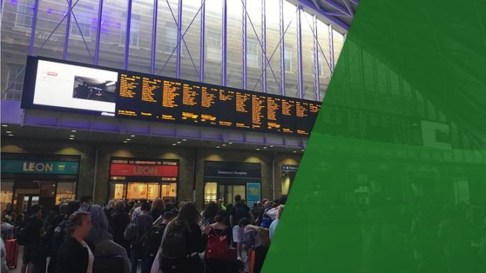 The failure caused a chaos on travel - especially at the King's Cross