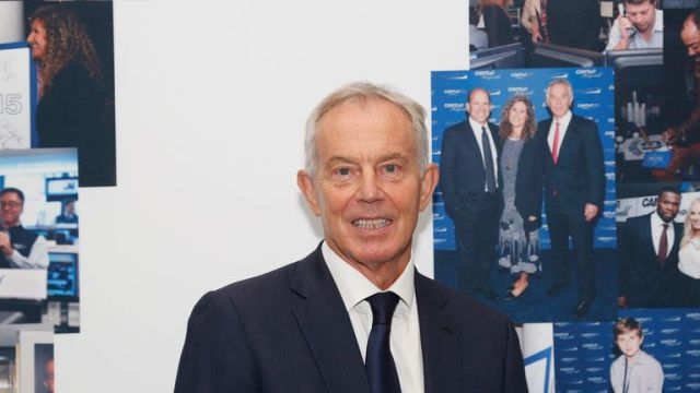 NEW YORK, NEW YORK - SEPTEMBER 11: Tony Blair attends the Annual Charity Day Hosted By Cantor Fitzgerald, BGC and GFI on September 11, 2019 in New York City. (Photo by Lars Niki/Getty Images for Cantor Fitzgerald)