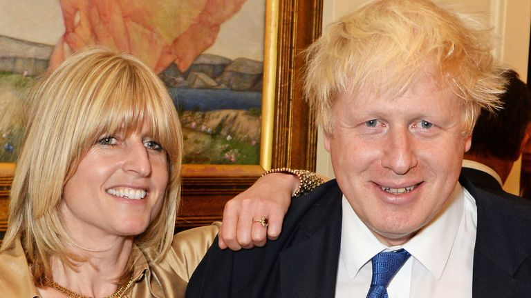 "LONDON, ENGLAND - OCTOBER 22: (L to R) Rachel Johnson, Mayor of London Boris Johnson and Jo Johnson attend the launch of Boris Johnson's new book ""The Churchill Factor: How One Man Made History"" at Dartmouth House on October 22, 2014 in London, England. (Photo by David M. Benett/Getty Images)"