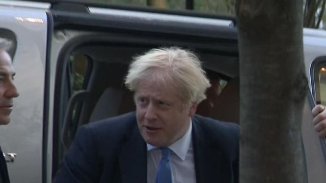 Boris Johnson seen in New York following Supreme Court judgment that prorogation was unlawful