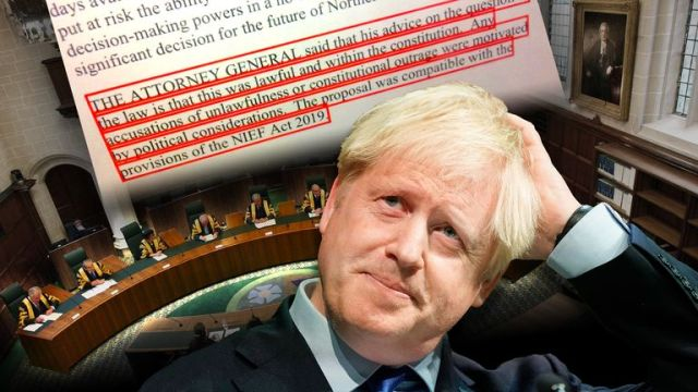 The attorney general's advice to Boris Johnson on the suspension of parliament