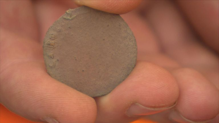 Coins are among the items that have been found on the former battlefield