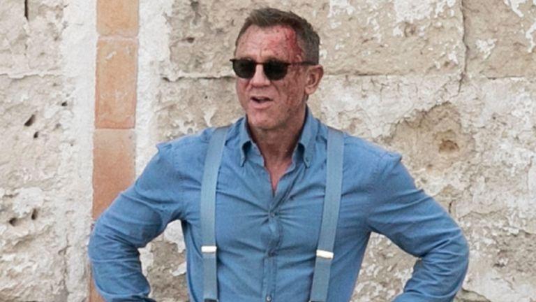 Daniel Craig on set. Pic: MEGA