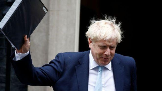 Britain's Prime Minister Boris Johnson leaves Downing Street in London, Britain, October 3, 2019. REUTERS/Henry Nicholls