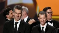 LOS ANGELES, CALIFORNIA - SEPTEMBER 22: (L-R) David Benioff and D. B. Weiss accept the Outstanding Drama Series award for 'Game of Thrones' onstage during the 71st Emmy Awards at Microsoft Theater on September 22, 2019 in Los Angeles, California. (Photo by Kevin Winter/Getty Images)