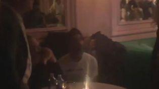 Harvey Weinstein attends an event in a Manhattan bar