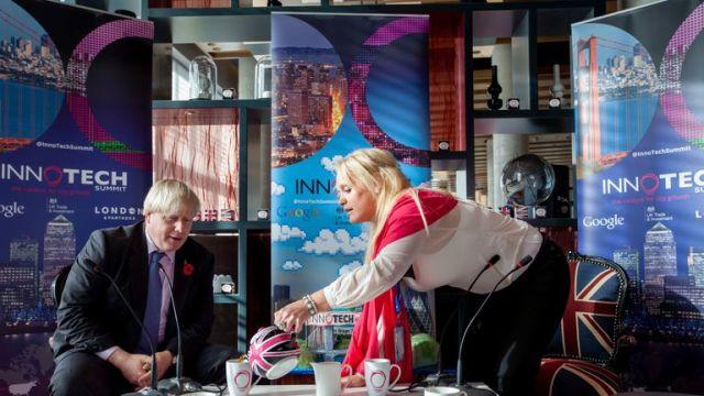Jennifer Arcuri and Boris Johnson pictured together in 2013