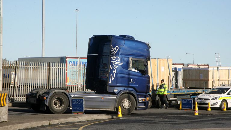 A lorry cab was seized at Dublin Port on Saturday which police believe may have delivered the trailer with 39 people on board to Zeebrugge