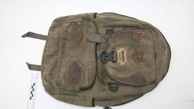 Officers have also released an image of a bag found in the plane's landing gear. Pic: Met Police